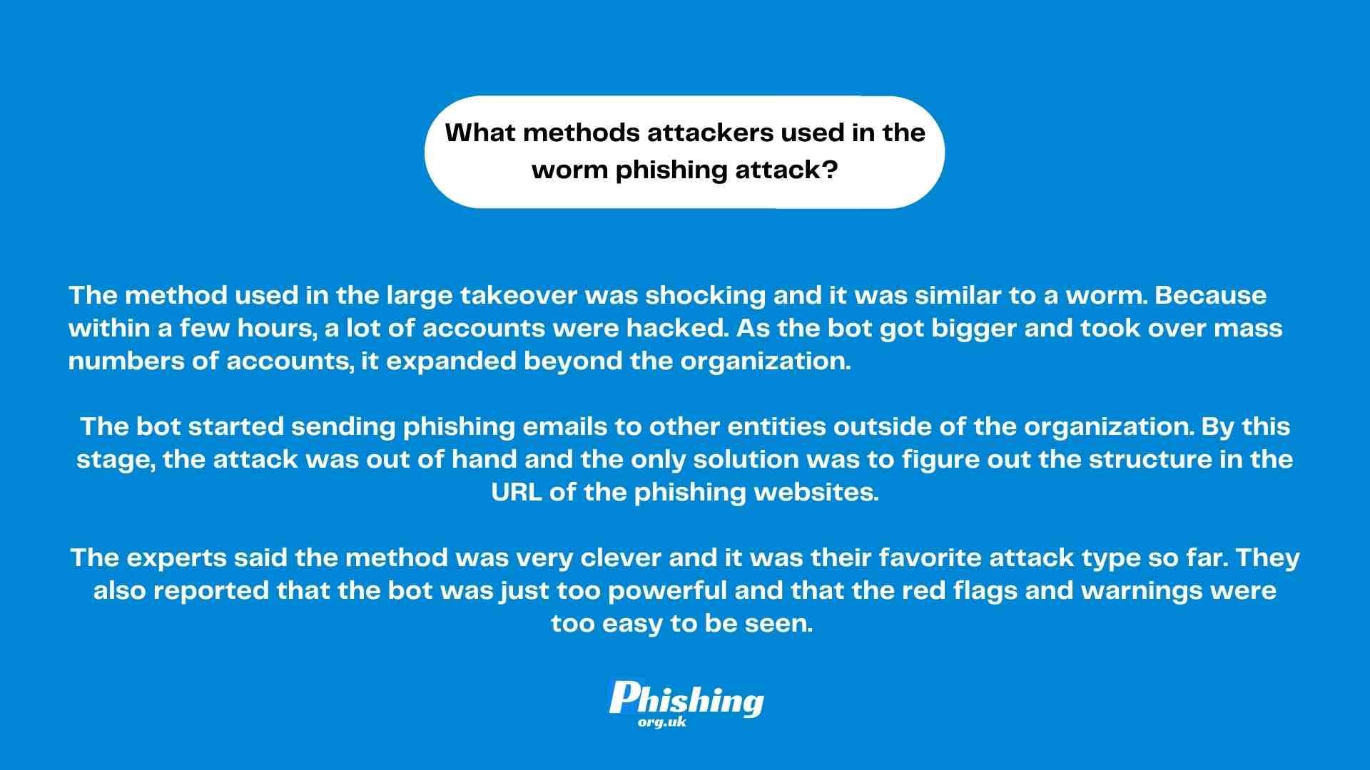 Worm phishing attacks change the scope of cyber attacks