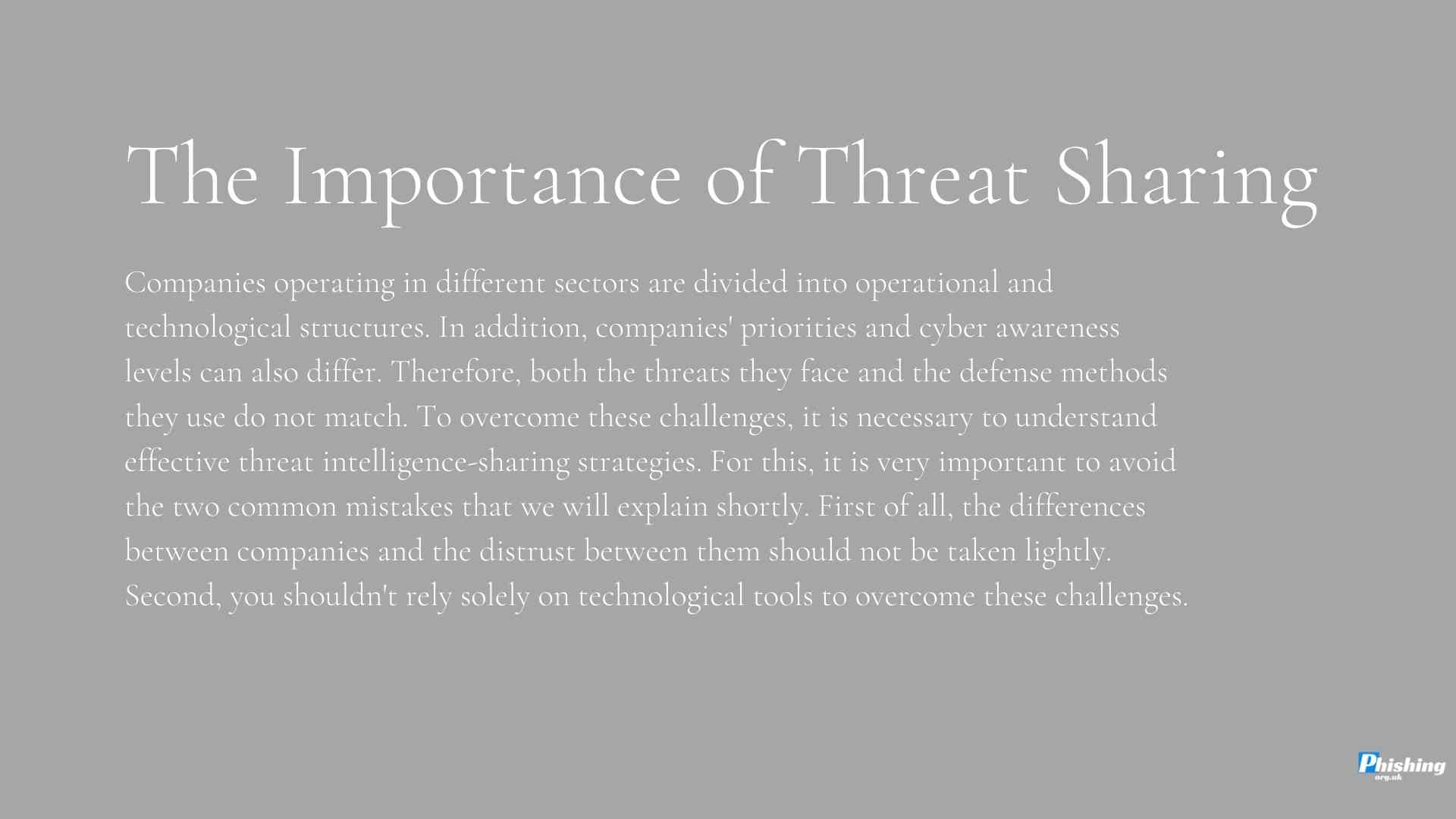 What to Consider When Sharing Threat Intelligence