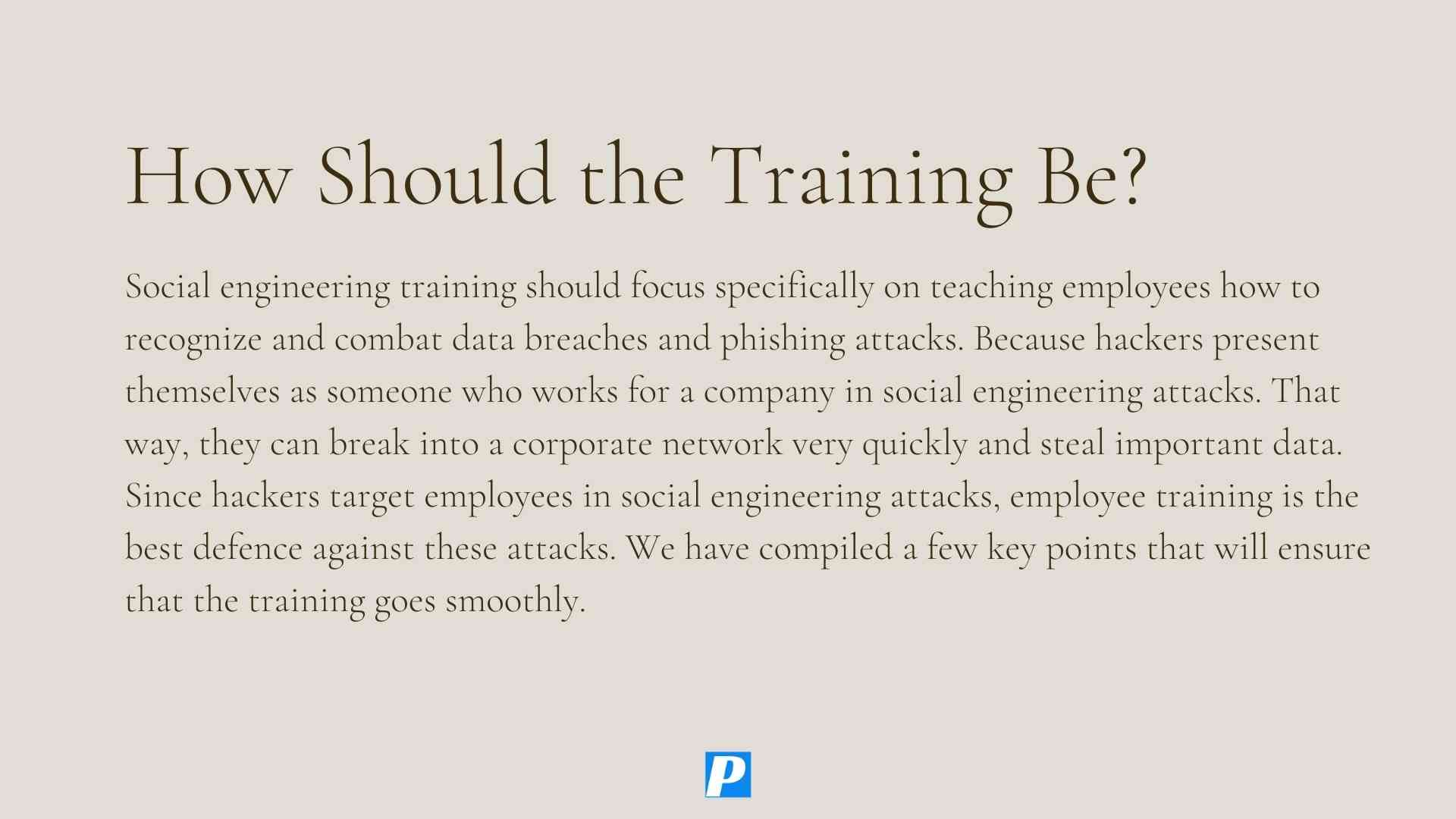 Key Points of Effective Social Engineering Training