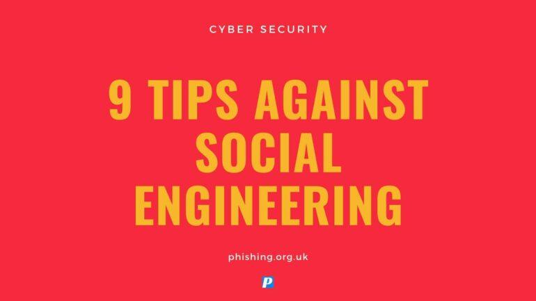 9 Tips Against Social Engineering
